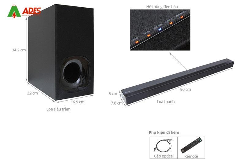 Loa Soundbar 2.1 Sony HT-CT180