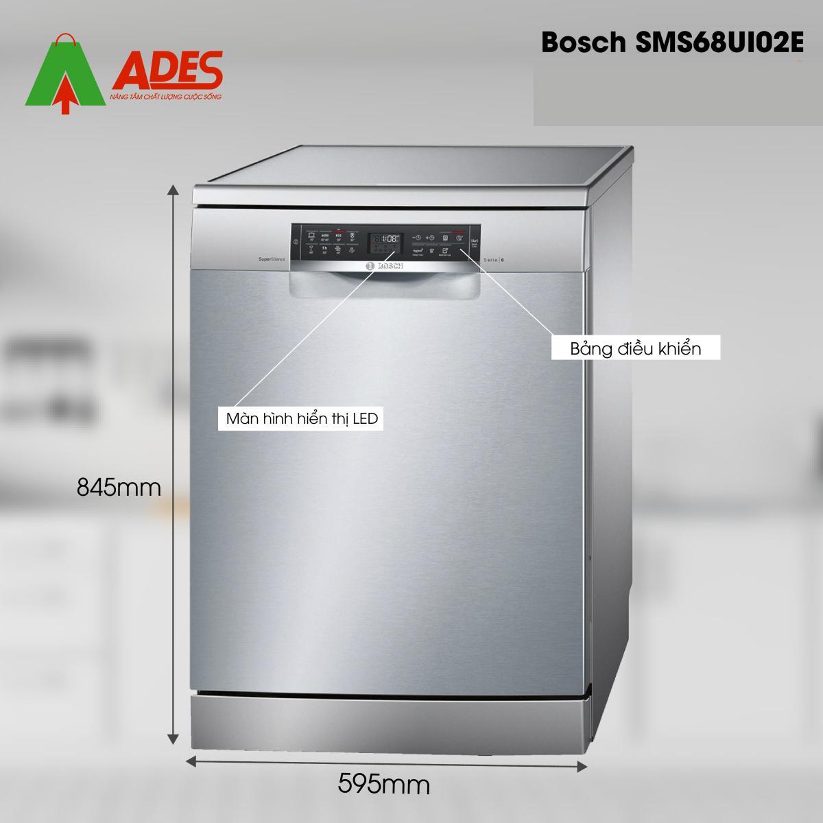 Cau tao may rua bat Bosch SMS68UI02E